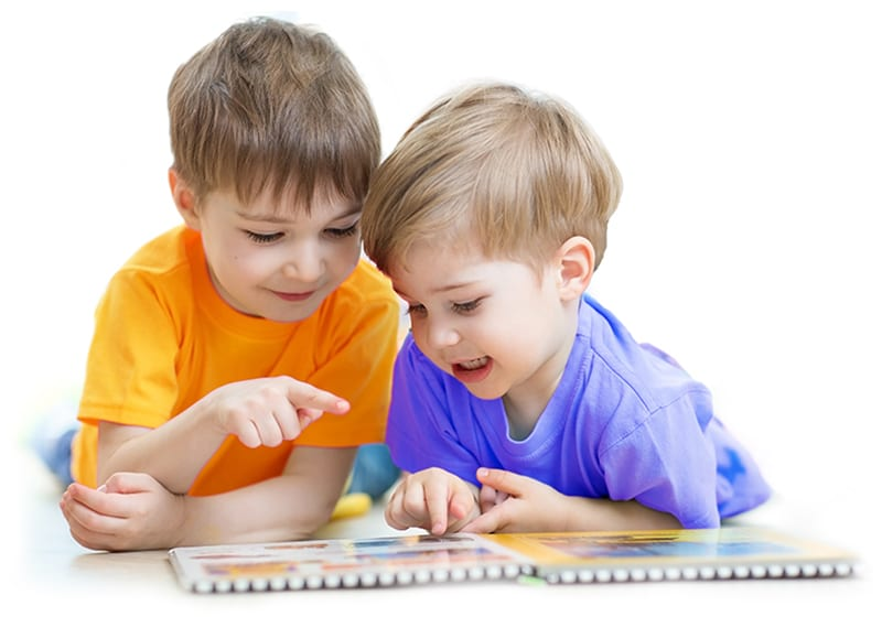 prekindergarten - two boys reading