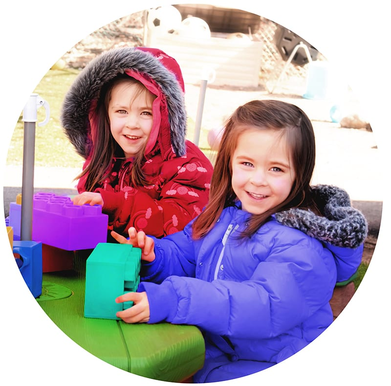 prekindergarten - two girls playing