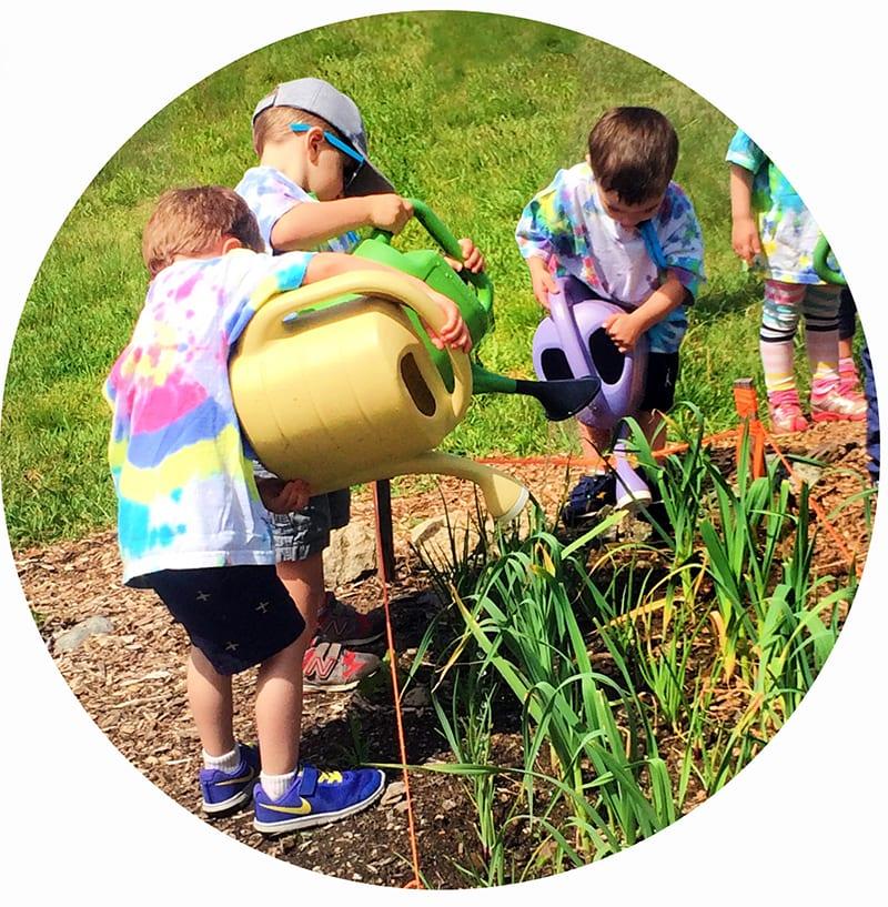 preschool - boys gardening