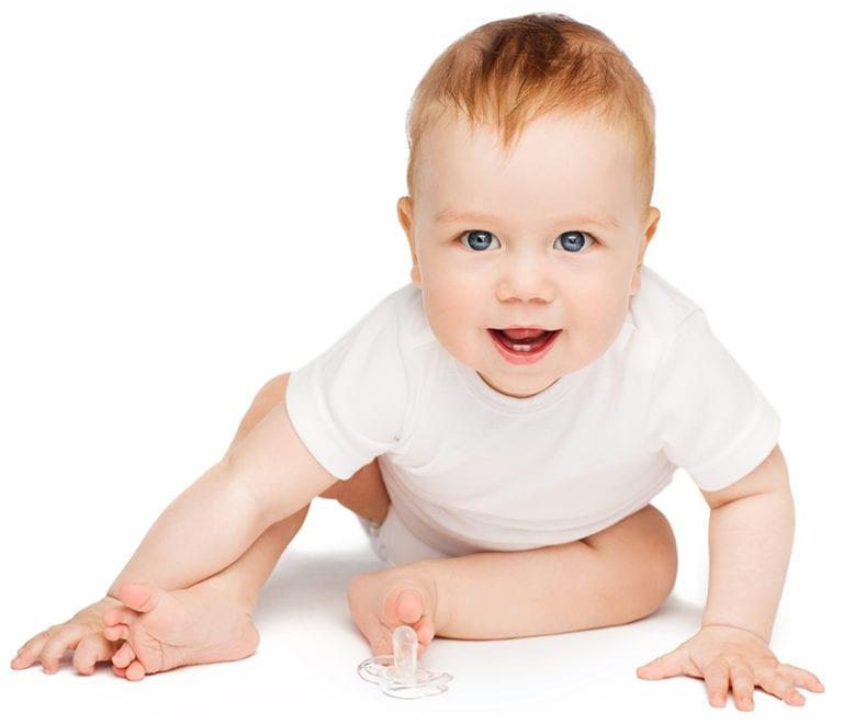 baby smiling at preschool