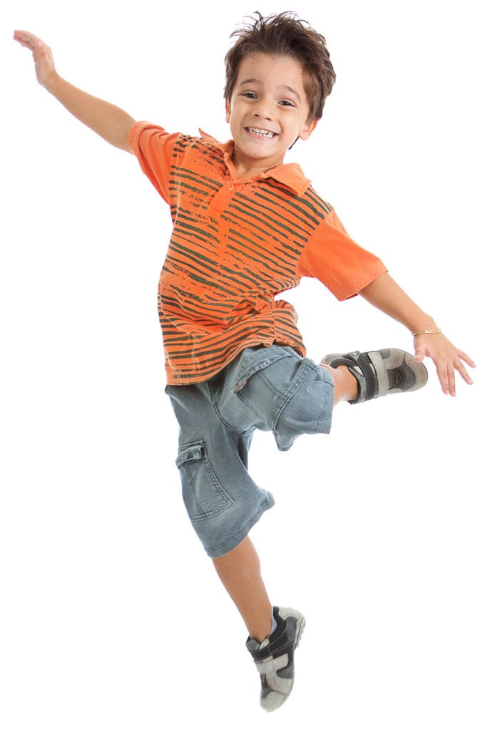 happy kid at preschool