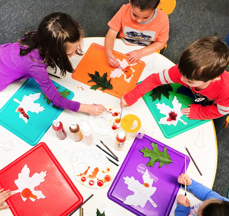 curriculum - kids around a table at preschool