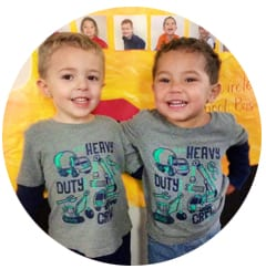 two friends at preschool
