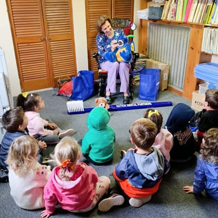 story time at daycare