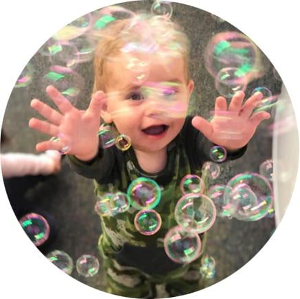 fun bubbles at daycare